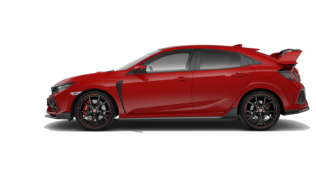 Honda Civic Type R z profilu.